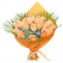 20 Peach Roses Bouquet