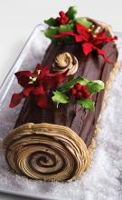 1kg Yule Log black forest cake