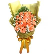 18 Orange Roses Bouquet