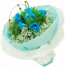 6 Blue Roses Bouquet