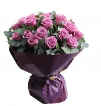 24 purple roses bouquet