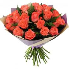24 orange roses bouquet