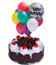 1 kg Chocolate Mousse Cake and  Balloons