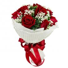 Valentines 12 Red Roses Bouquet