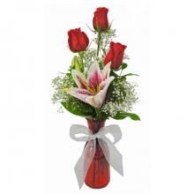 Roses and Lilies Vase