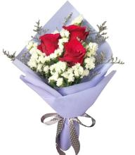 3 Red Roses Bouquet