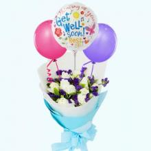 White Roses and Balloons