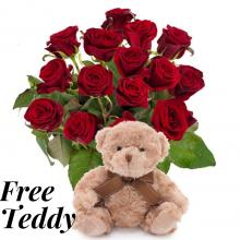 Red Roses and a Free Teddy Bear